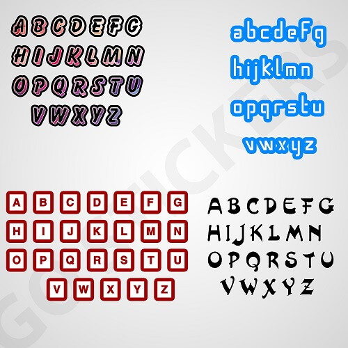 Vinyl-letter-stickers
