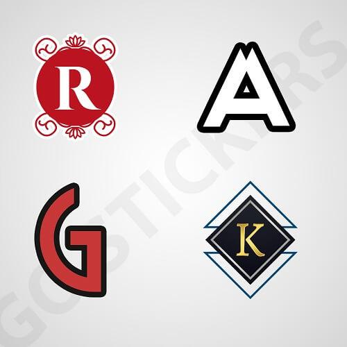 Monogram Stickers